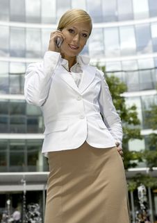 Free Blonde Businesswoman Stock Photography - 5697312