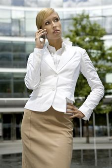 Free Blonde Businesswoman Royalty Free Stock Photos - 5697348