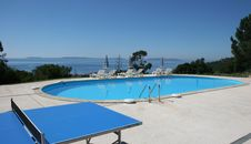 Poolside At Le Lavandou, French Riviera Royalty Free Stock Photo