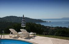 Free Poolside At Le Lavandou, French Riviera Royalty Free Stock Photos - 5697678