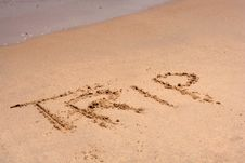 Free The Word TRIP Written In Sand Royalty Free Stock Photos - 5697778