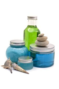 Free Spa Bottles Royalty Free Stock Photo - 5697825