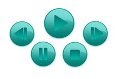 Music Buttons Royalty Free Stock Photo