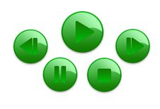 Music Buttons Royalty Free Stock Photos