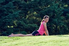 Free Woman Stretching - Horizontal Stock Images - 5698284