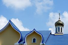 Free Blue Roof Of Temple Stock Image - 5698641