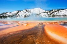 Grand Prismatic Spring Royalty Free Stock Photography