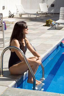 Free Woman Near Pool - Vertical Royalty Free Stock Photo - 5698675