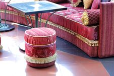 Fragment Of Oriental Furniture At Cafe Royalty Free Stock Image