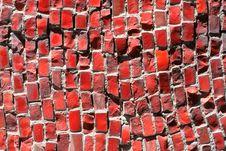 Free Red Ceramic Decorative Tile Stock Photo - 5698810