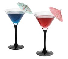 Free Two Cocktails With Umbrellas Royalty Free Stock Images - 5699209