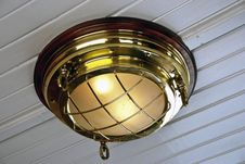 Free Old Train Carriage Lamp Royalty Free Stock Photos - 5699368