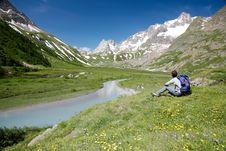 Free Mountain Trekker Royalty Free Stock Photography - 5699837