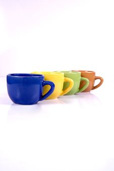 Free Colored Coffee Cups Stock Photo - 5699960