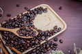 Free Coffee On Grunge Wooden Background Royalty Free Stock Photography - 56908967