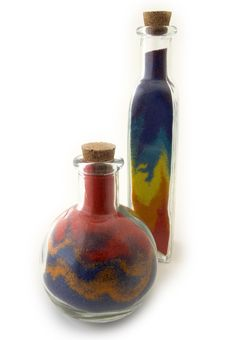 Free Two Bottles With Colorful Sand Stock Photo - 570850