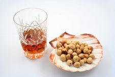 Free Snack And Brandy Royalty Free Stock Photos - 571558
