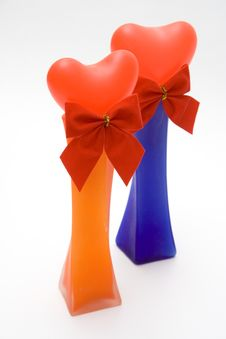 Free Two Heart In Vases Royalty Free Stock Image - 572796