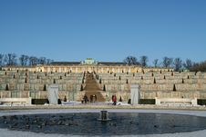Free Sanssouci In Winter Royalty Free Stock Image - 573106