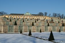 Free Sanssouci In The Snow Stock Photography - 573142