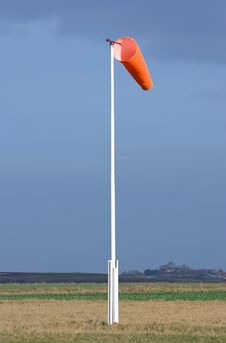 Wind Sock In Field Of Skydiving Drop Zone Stock Images