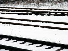 Free Railway Line Royalty Free Stock Photography - 573337