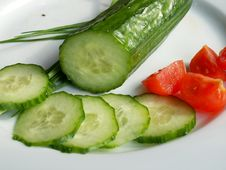 Free Cucumber And Tomatos Stock Images - 573624