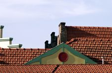 Free Blue Sky Over Roof Stock Photos - 573813