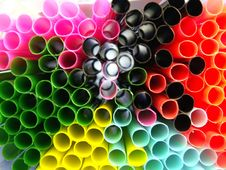 Free Drinking Straws Abstract Royalty Free Stock Photography - 574117