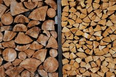 Free Firewood Stack Royalty Free Stock Photos - 574248