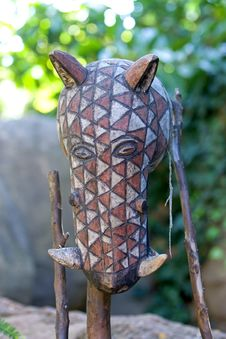 Free Wooden Carving Of Head Of Wild Boar Stock Photos - 576273