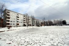 Free Apartment In Winter Royalty Free Stock Photo - 576425