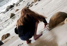 Free Playing In Sand Stock Photography - 577142