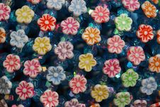 Free Fake Plastic Flowers Background Stock Image - 577181