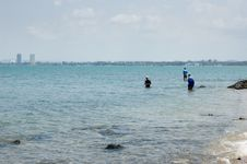 Free Three People Fishing Stock Images - 578064