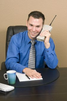 Free Business Call With A Smile Stock Photo - 578800