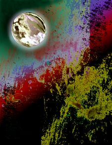 Free Planet In Grunge Sky Stock Photos - 579343