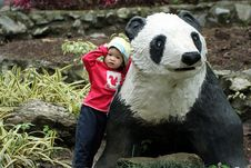Standing With Panda Royalty Free Stock Photos