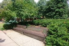 Free Benches Surrounded By Greenery Stock Photo - 5700930