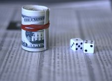 Free Cash Dice And The Share Market Stock Image - 5700931