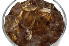 Free Close Up Of Cola With Ice Stock Photo - 5701020
