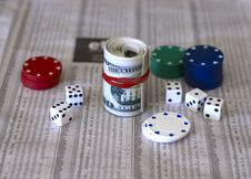 Free Cash Dice And The Share Market Royalty Free Stock Image - 5701066