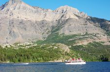 Free Sailing In Upper Waterton Lake Stock Image - 5701361