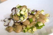 Fava Bean And Octopus Salad Stock Image