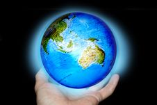 Free Abstrac With Hands And Planet Stock Images - 5701774