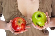 Free Apples In Hands Royalty Free Stock Photo - 5701915