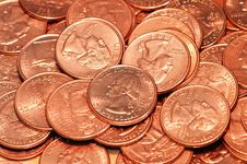 Free Bronze Quarter Dollar Royalty Free Stock Photo - 5702855