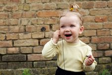 Free Baby With Headphone Royalty Free Stock Photography - 5703387