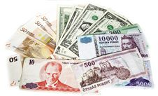 Free Different Currencies Royalty Free Stock Image - 5703566