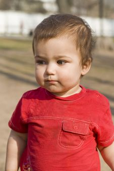 Free Crafty Boy In Red T-short Stock Photos - 5703863